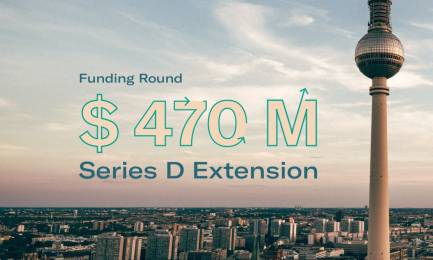 N26 Series D Funding Announcement - 470 million dollars with Berlin tv tower.