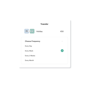 Screenshot of the bank transfer UI on N26 app.