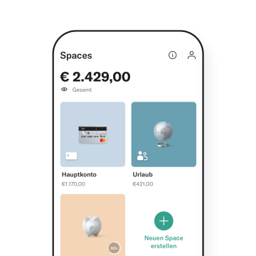 N26 You Spaces-Übersicht in der App.