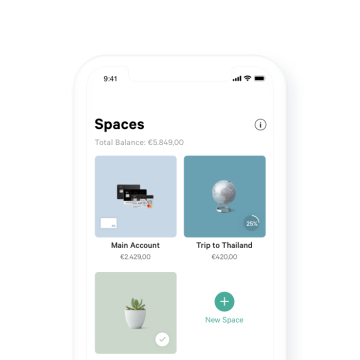 N26 You Spaces Overview in App.