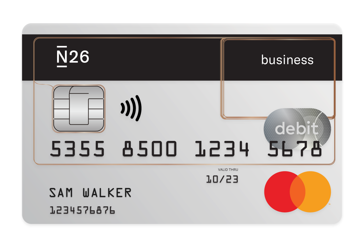 N26 Press Image of our Business Debitcard Mastercard with cashback
