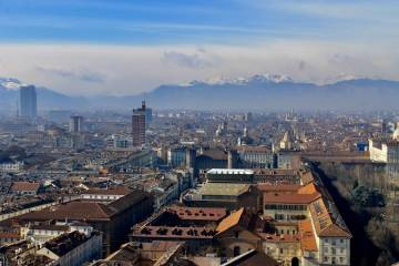 Panorama of the city of Turin.