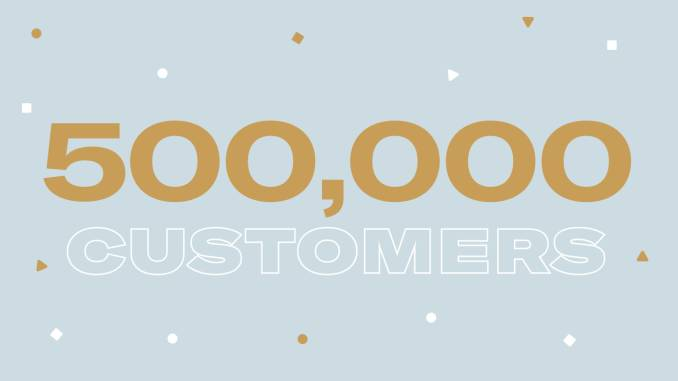 500K customers in Spain.