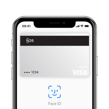 N26 offers fast, secure payments with Apple Pay.