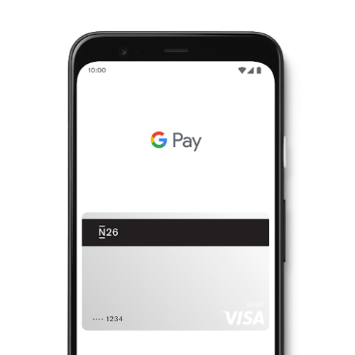 Google Pay x N26 debit card.