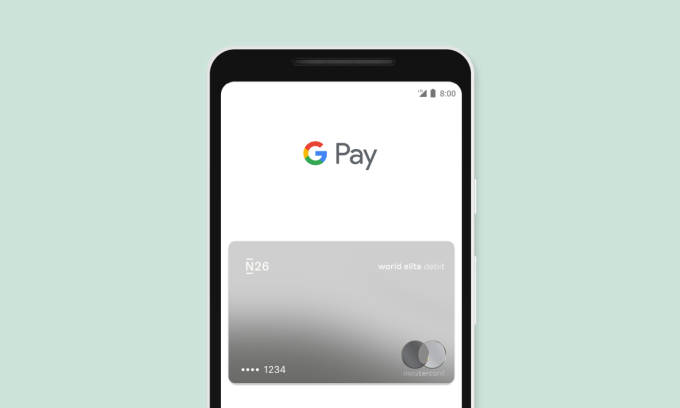 Google Pay con N26 Standard Card.