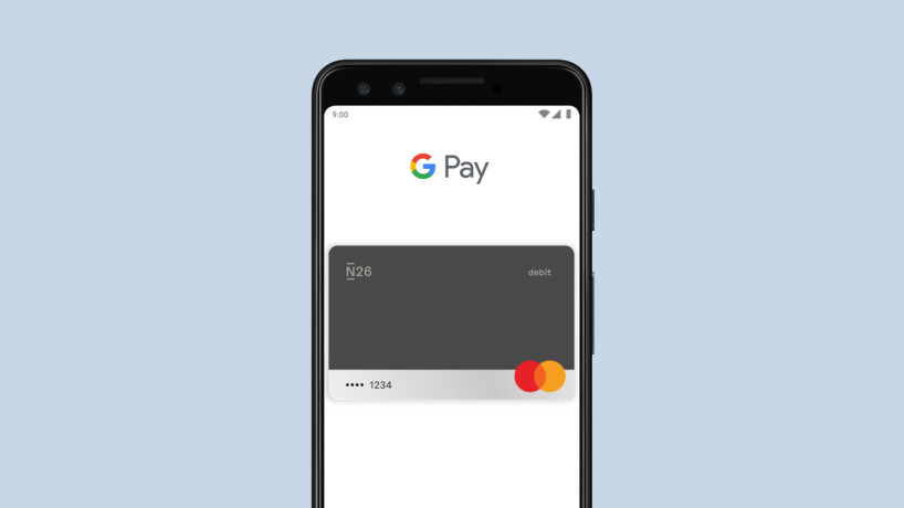 Google Pay with N26 Standard Card.