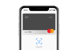 El iPhone X con la pantalla de Apple Pay abierta en él.
