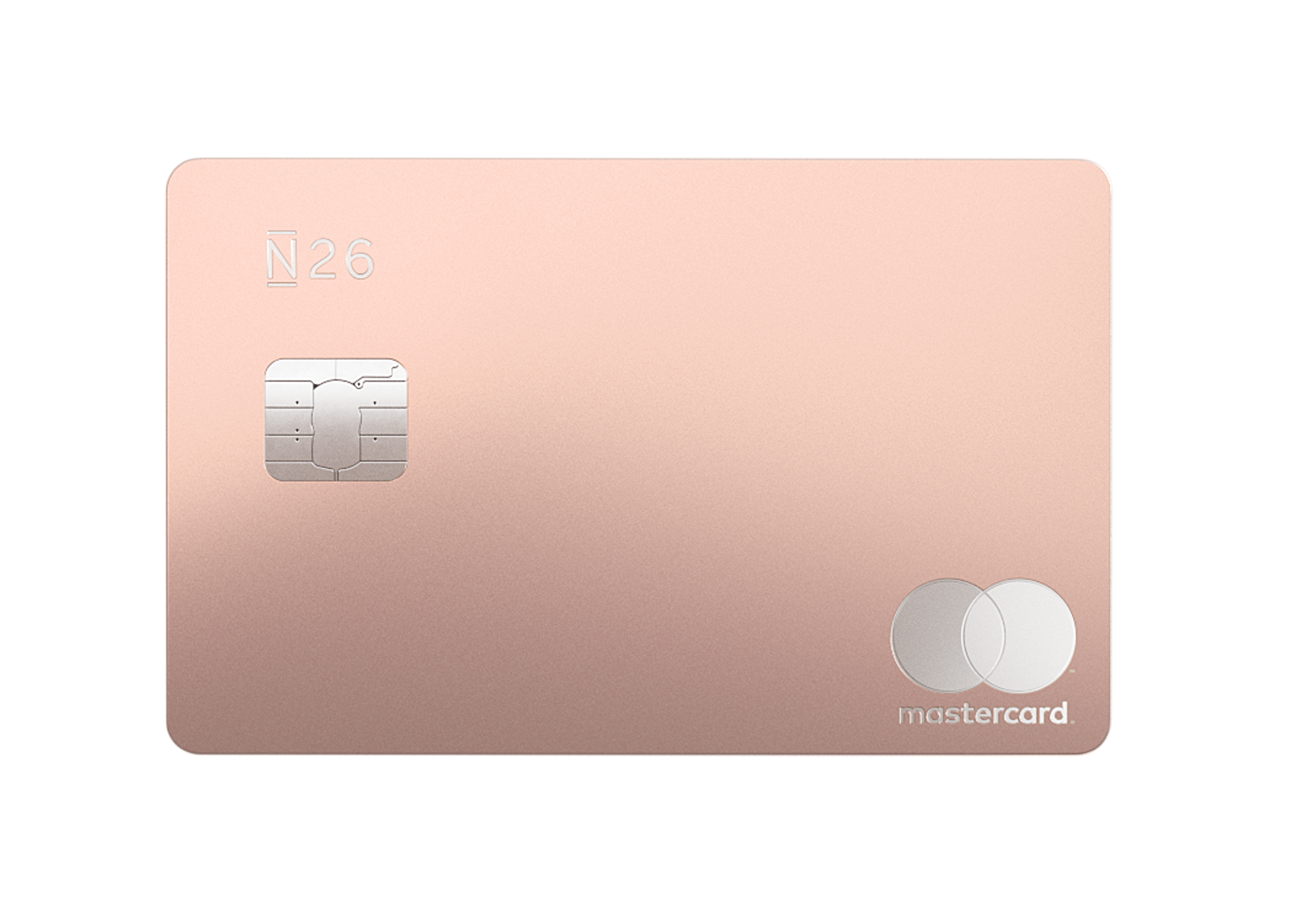 N26 Press Image of our Premium Metal Card in Coral Sand