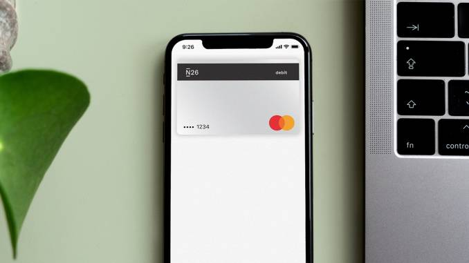 N26 mobile payment.