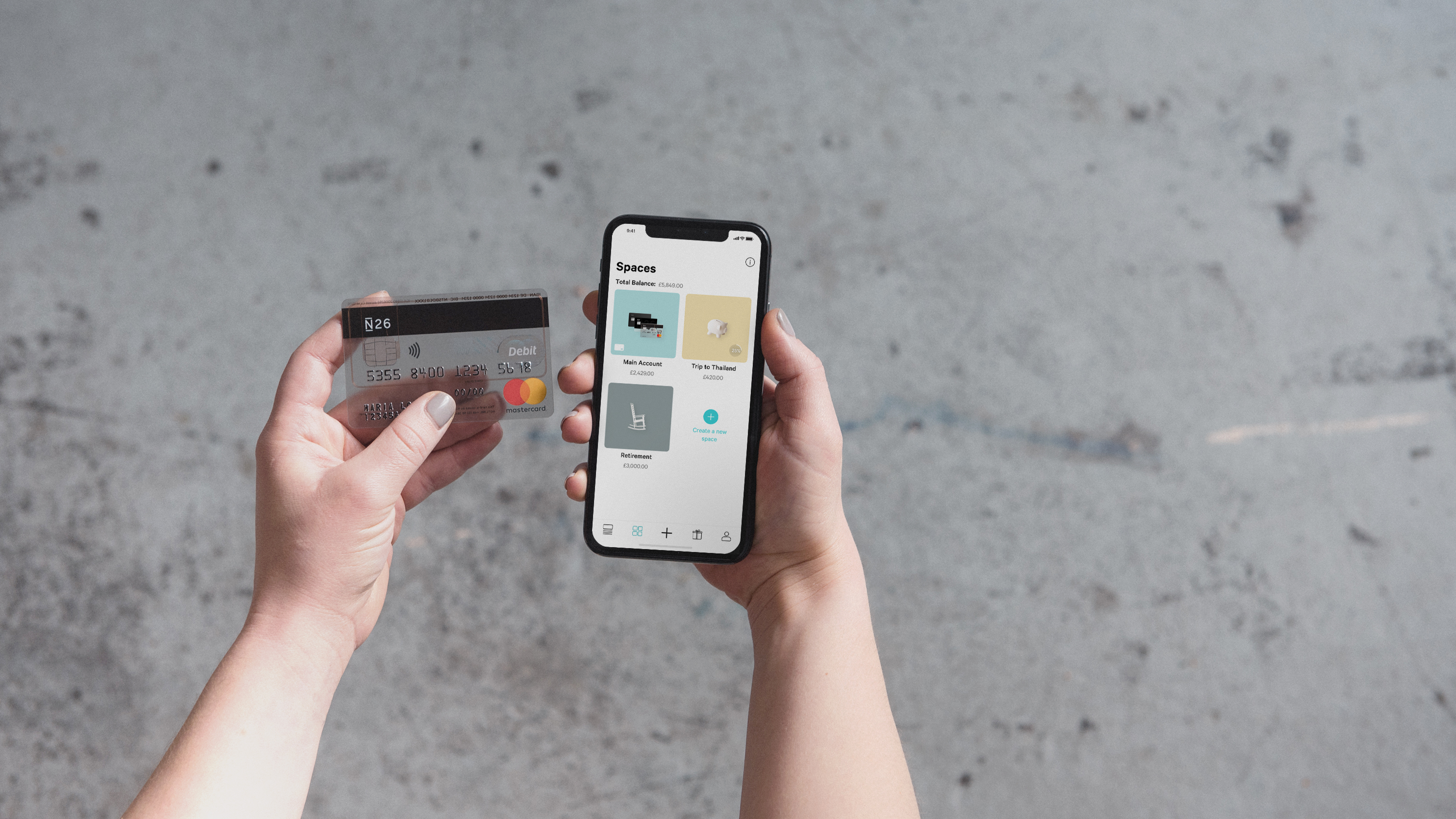 N26 iPhoneX Basic Card Spaces UK