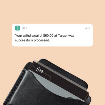 Withdraw cash for free with N26.