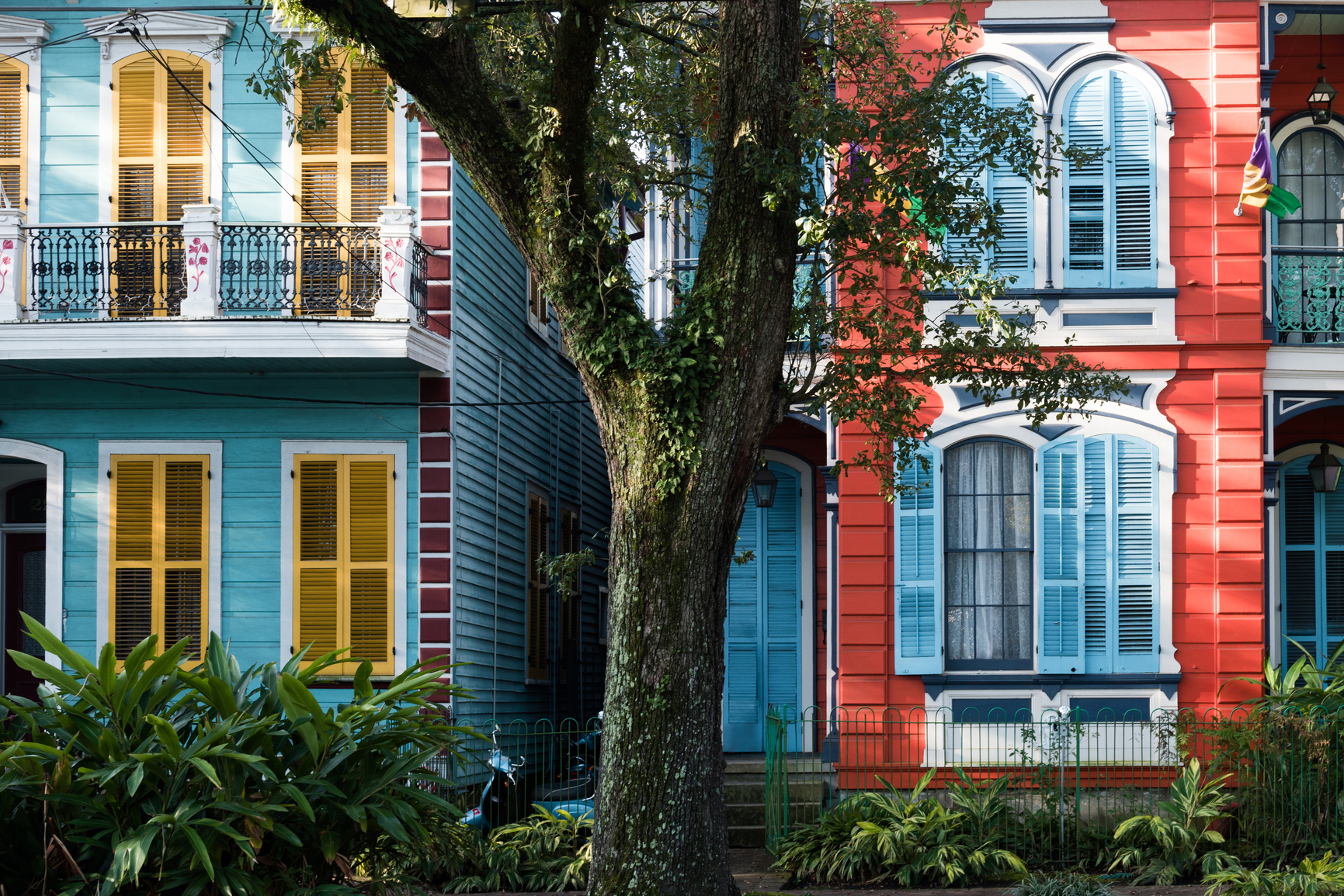 Colourful Painted Houses Of New Orleans