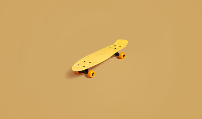 N26 paid internship abroad image with a yellow skateboard