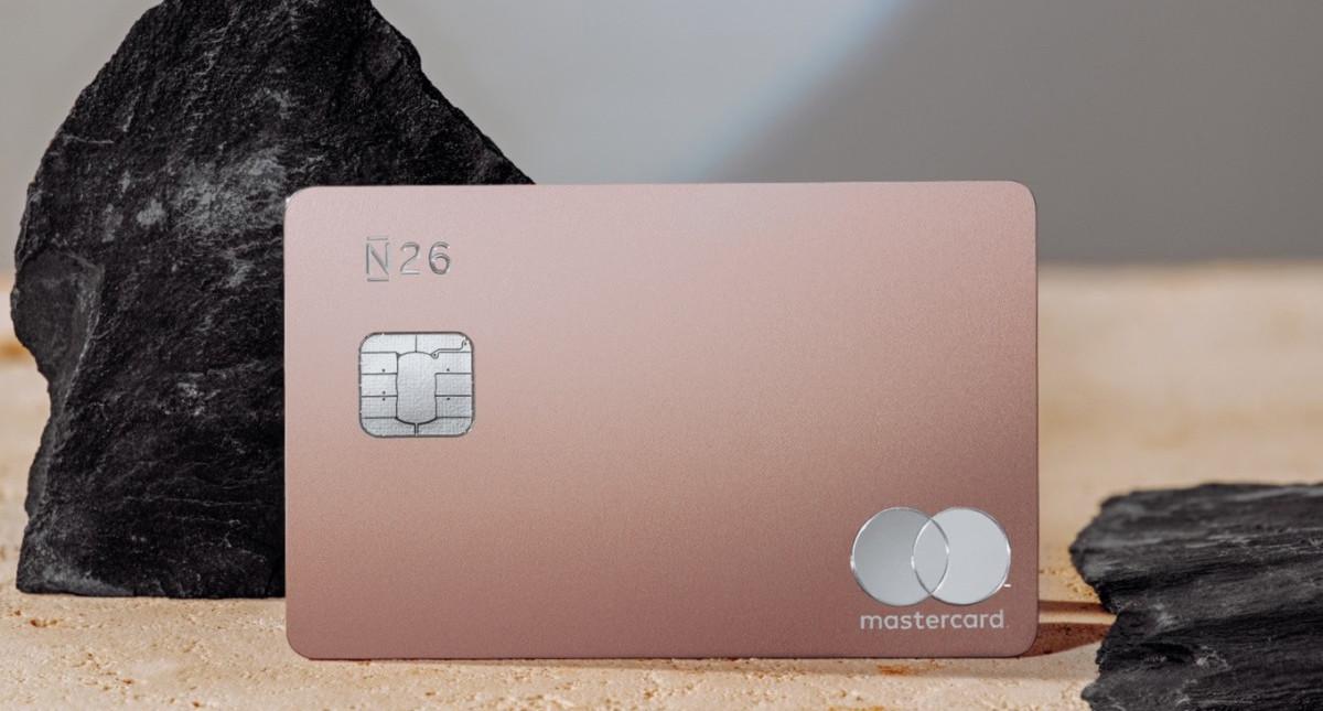 Carte N26 Gold.N26 Metal N26 Europe