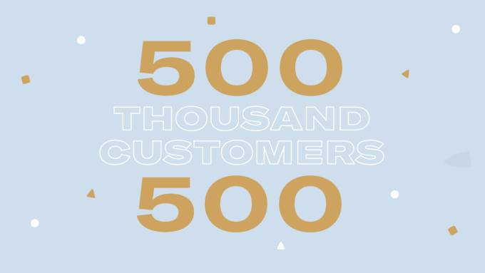 Celebrating 500,000 customers in Italy.