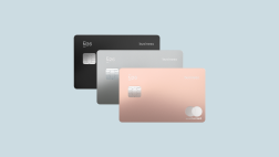 Business Metal 3 debit cards in different colors.