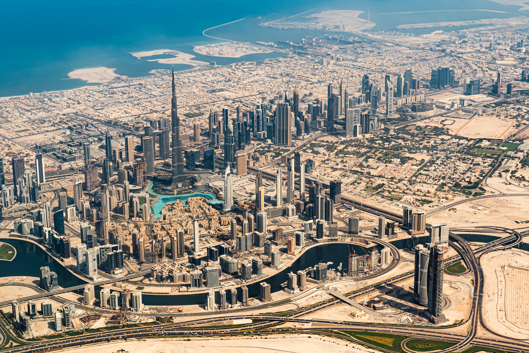 Aerial View Of Dubai, United Arab Emirates.