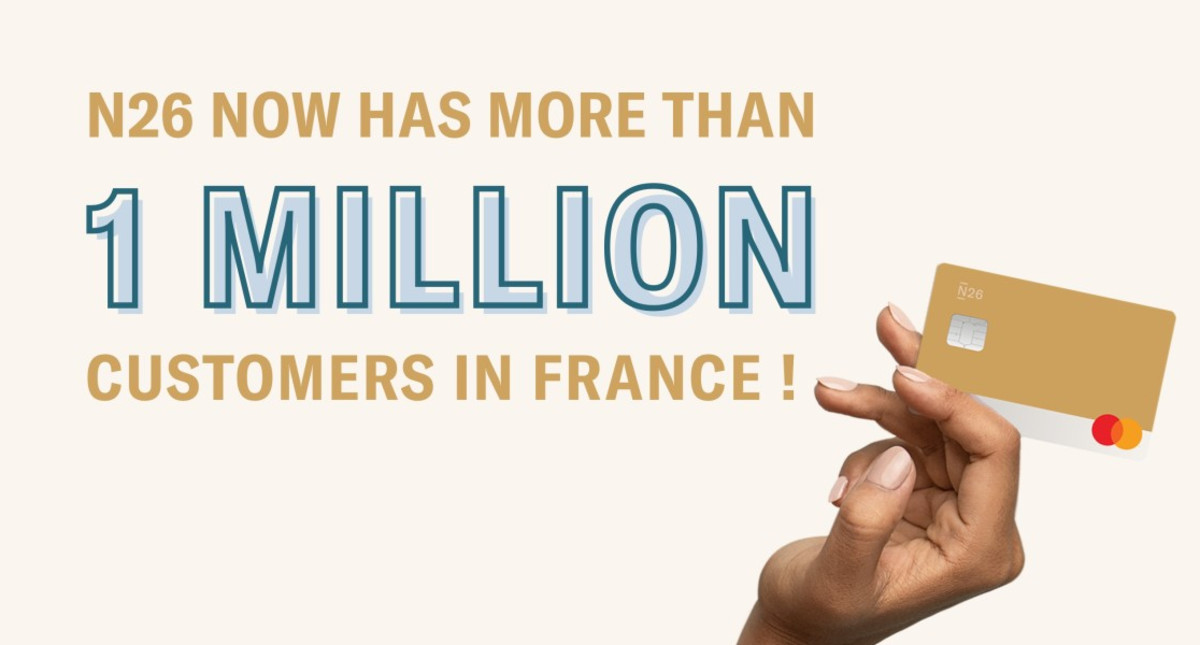 N26 now has over 1 million customers in France