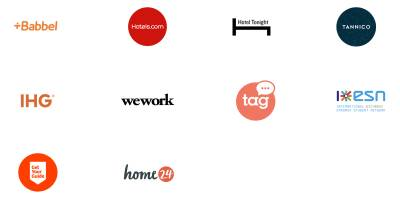 A montage of logos from companies that offer partnerships to N26 customers.