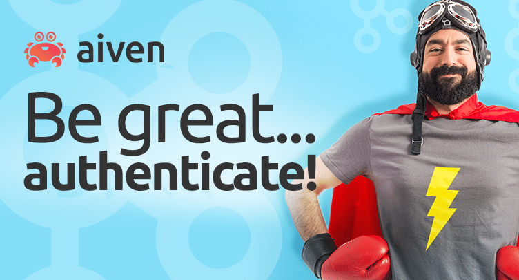 Aiven Kafka now supports SASL authentication hero image