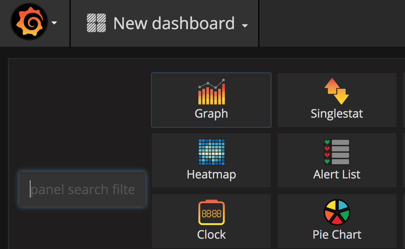step two of creating a new graphing dashboard for your timescaledb datasource