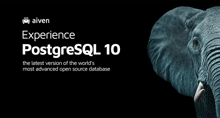 Aiven is the first to offer PostgreSQL 10 hero image