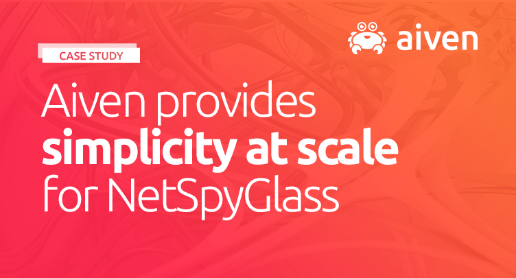 NetSpyGlass taps Aiven for PostgreSQL and Apache Kafka to simplify and scale network monitoring [Case Study] hero image