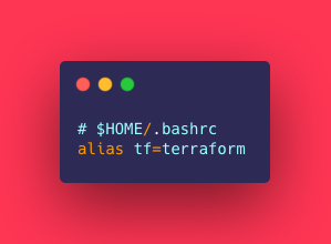 Bash Alias for Terraform