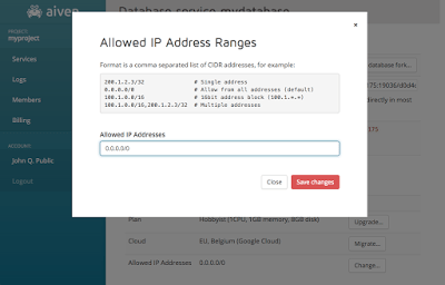 Changing allowed IP addresses