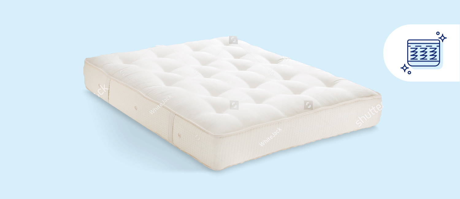 Stock photo of an innerspring mattress