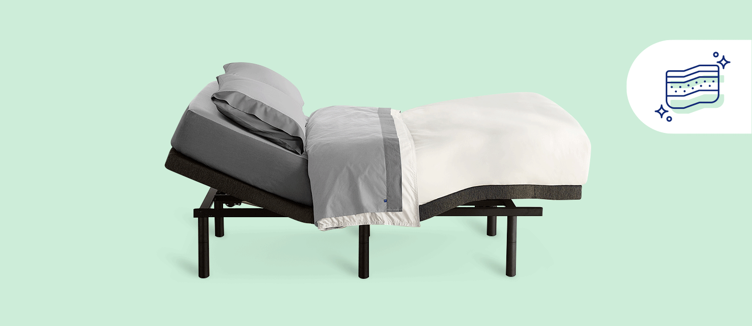 Stock photo of a Casper adjustable bed