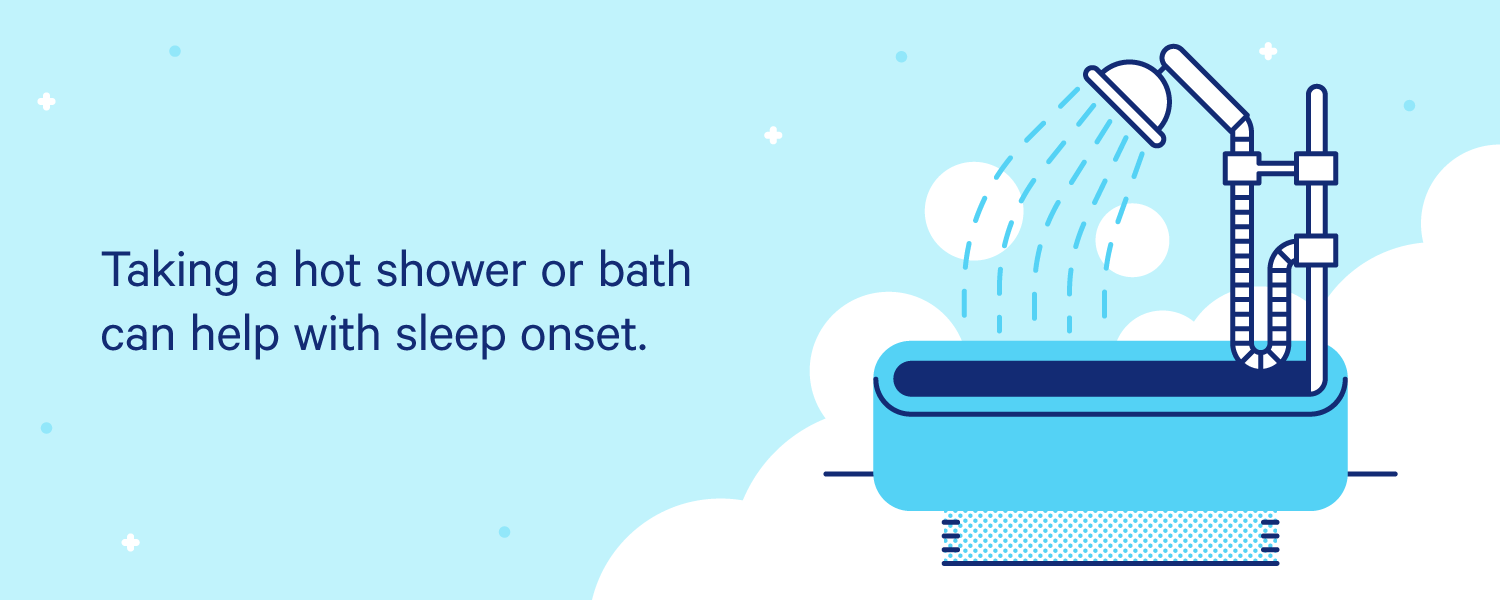 A shower head sprays water into an empty tub while steam fills the room. Illustration.