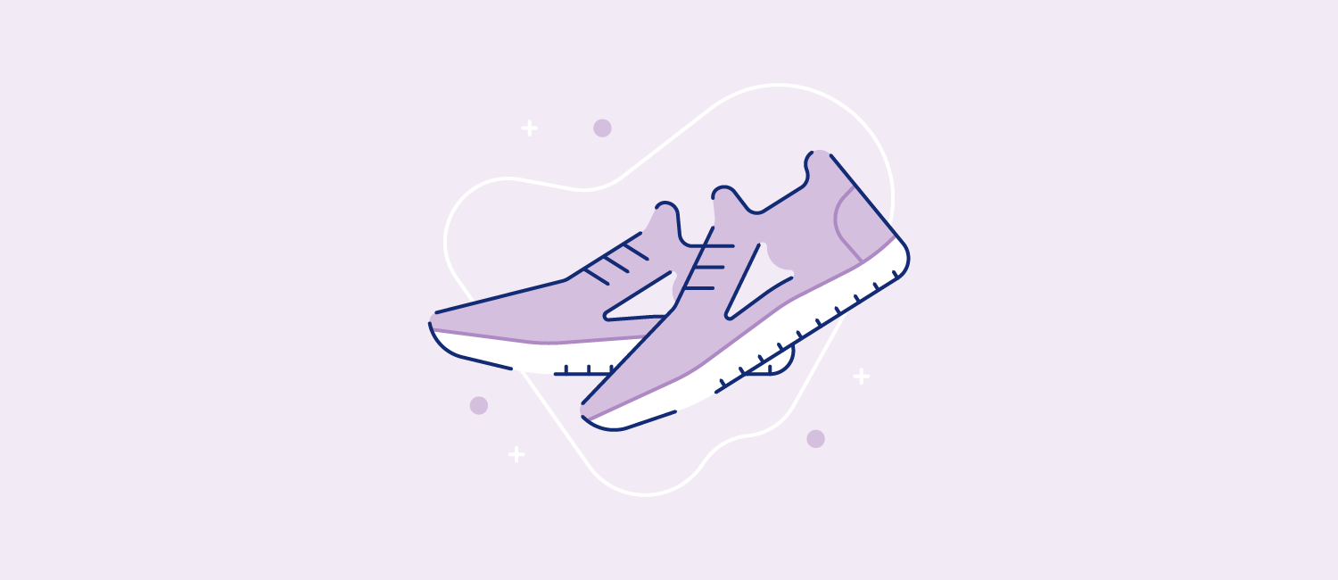 A pair of sneakers. Illustration
