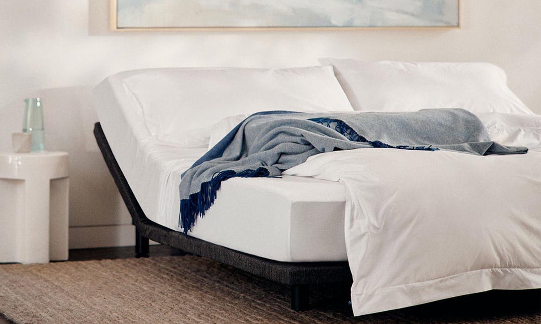A Casper adjustable bed frame.