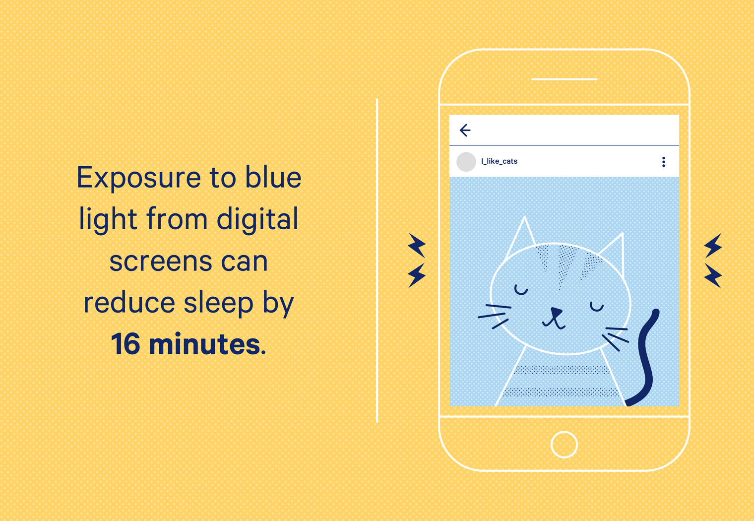 Blue light emitted from digital screens and mobile devices can cut sleep by 16 minutes.