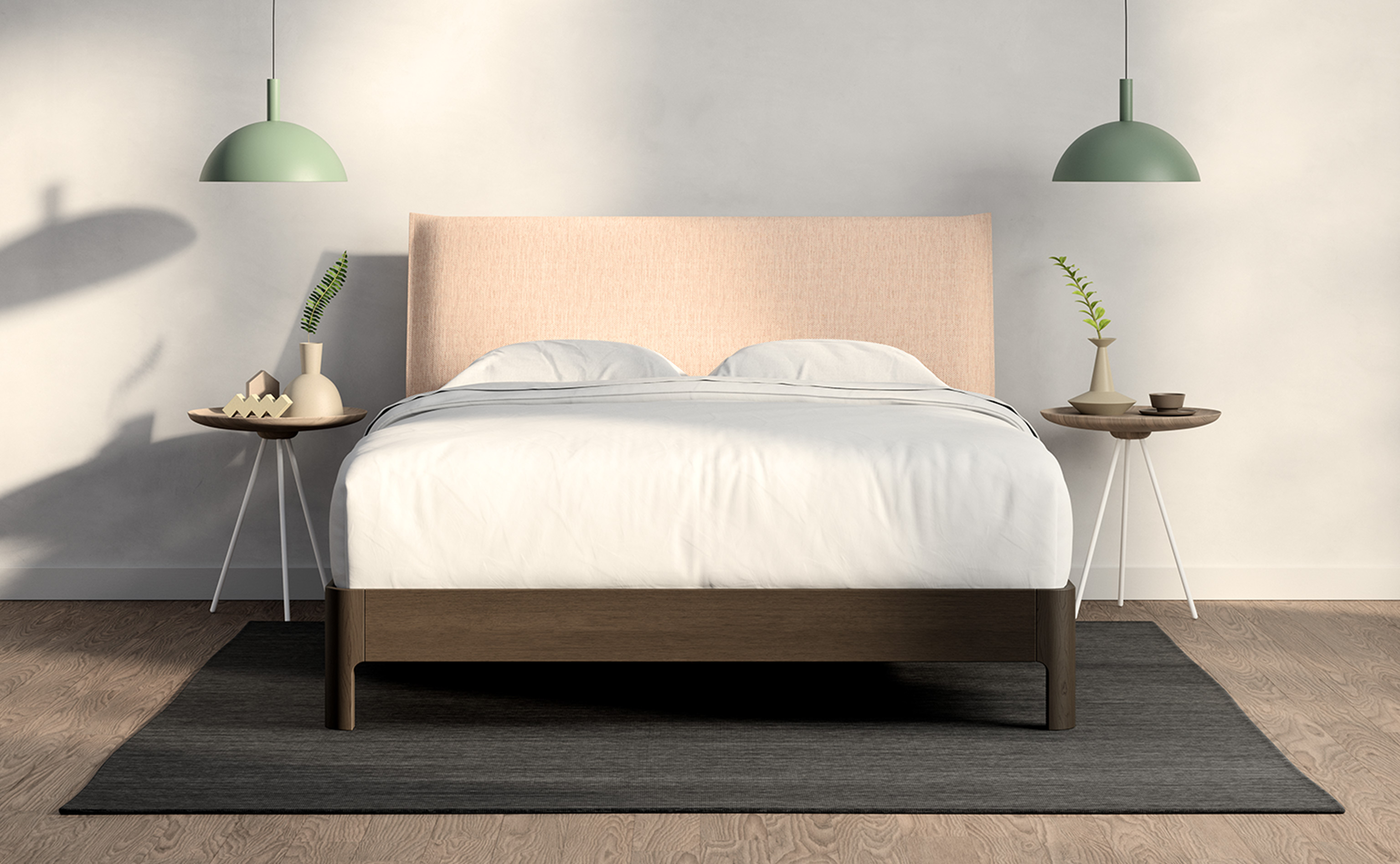 Casper Repose Wooden Bed Frame With Headbord Casper