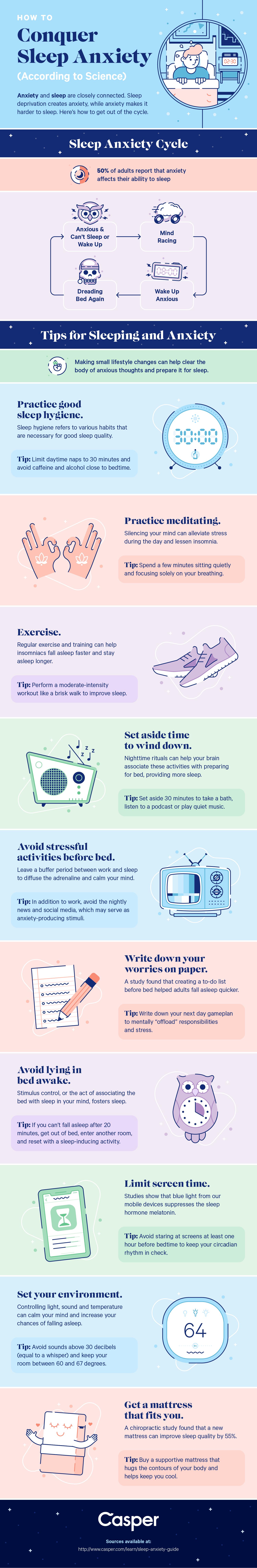 sleep anxiety infographic