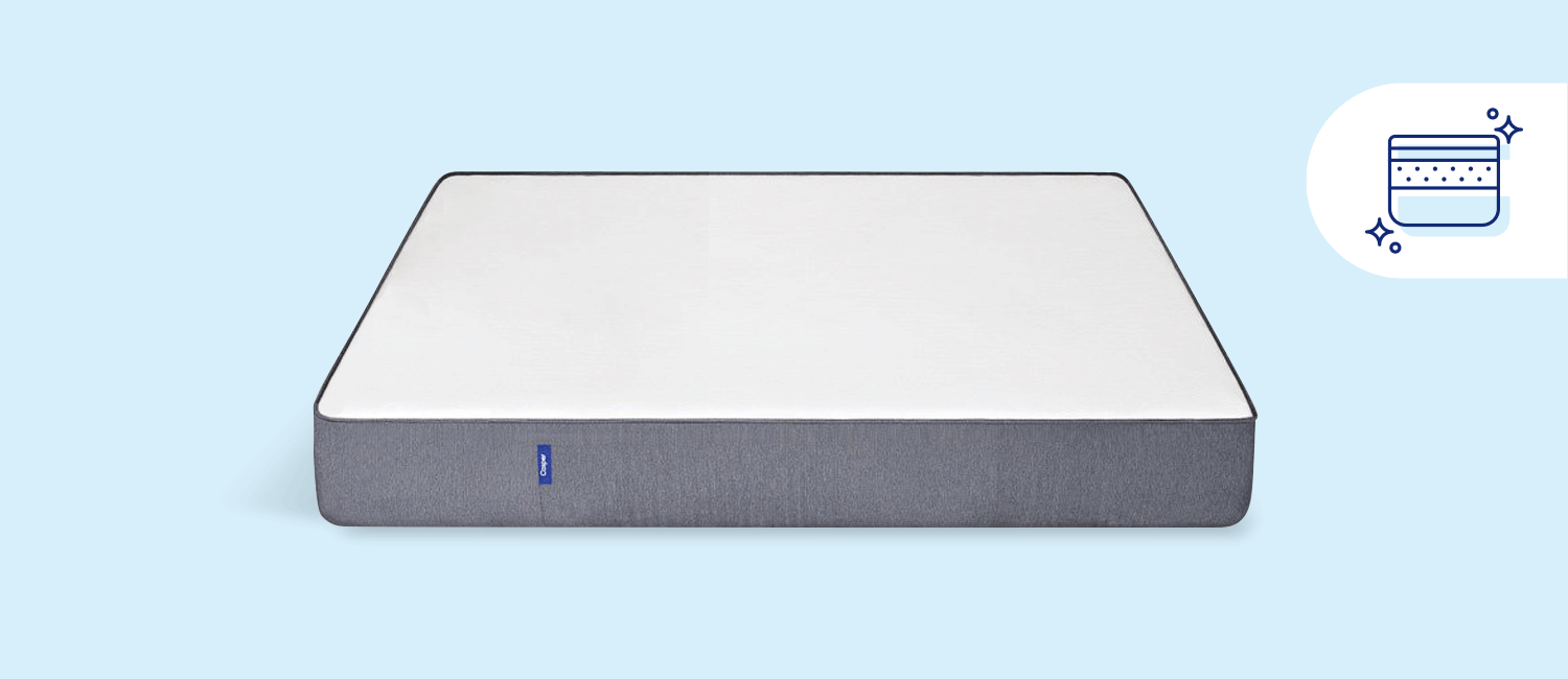 Stock photo of a Casper foam mattress