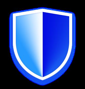 Blue shield icon
