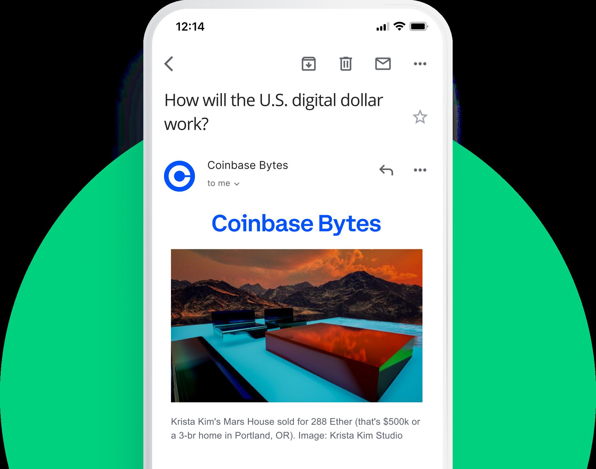 Coinbase Bytes Newsletter