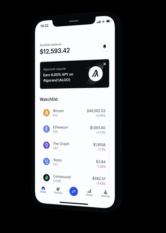 Coinbase app on mobile
