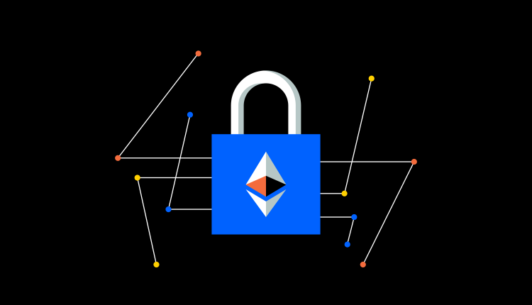A lock with the Ethereum symbol on it
