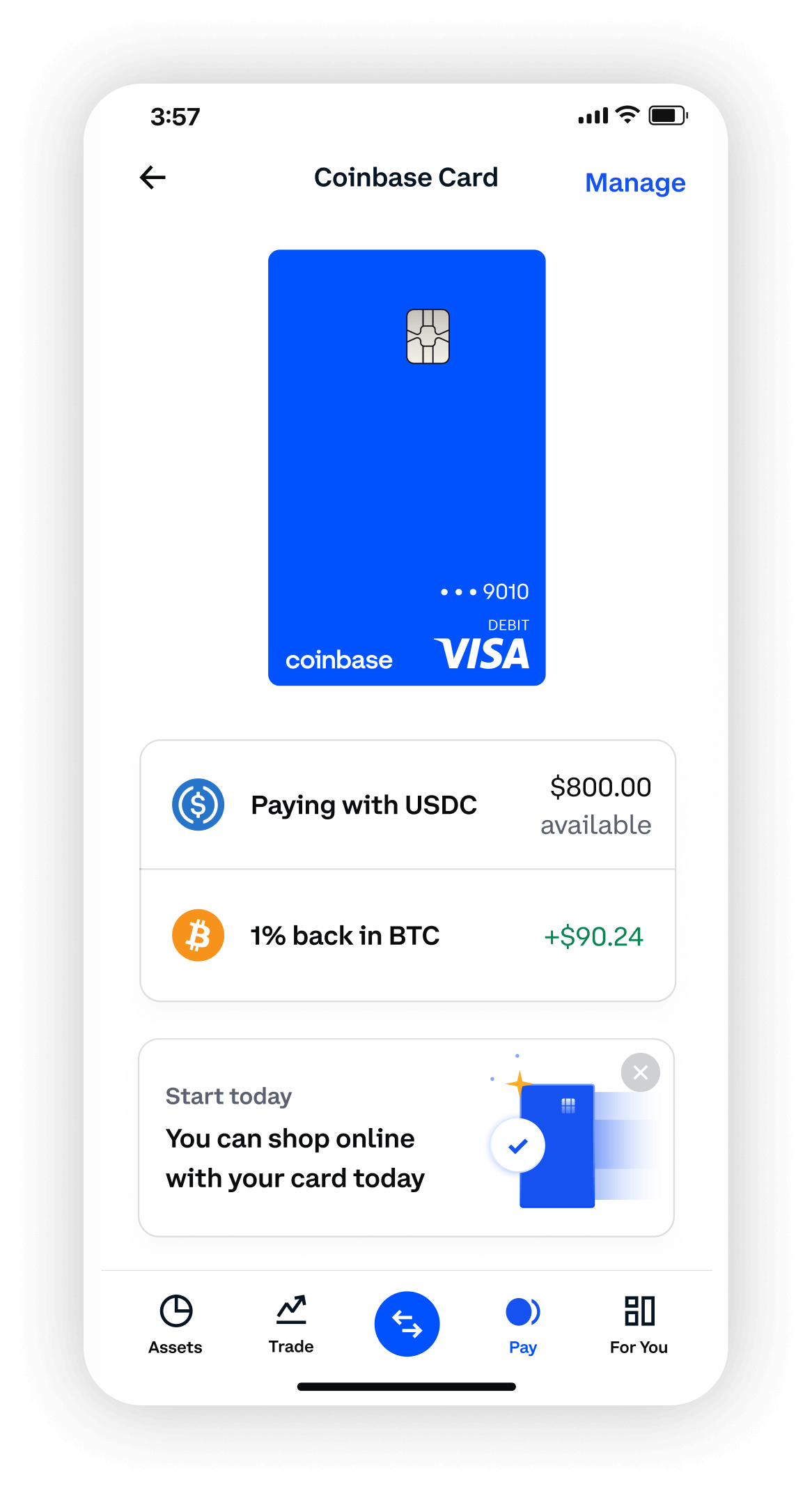 Card interface