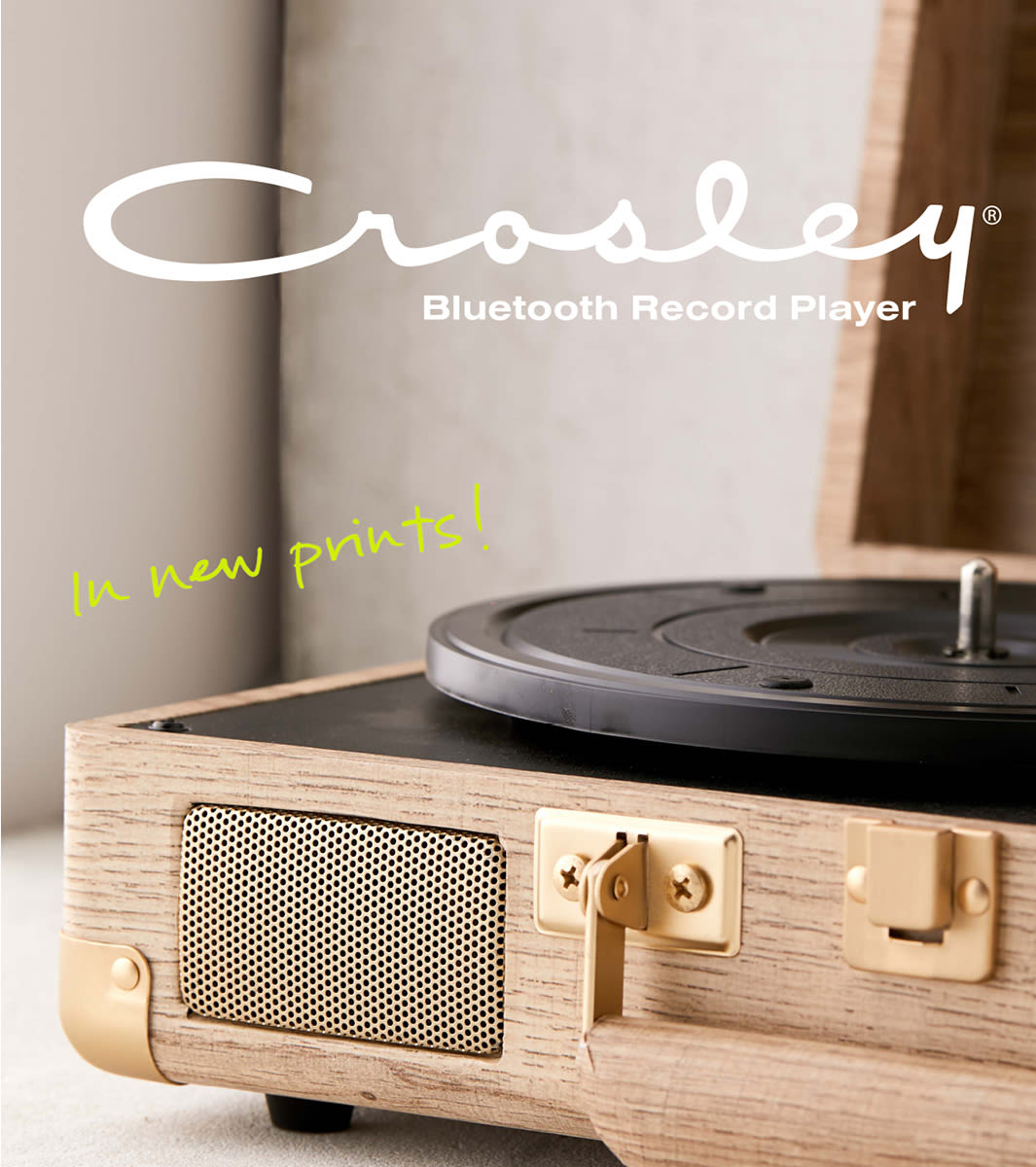 new styles a61a1 4c451 Crosley Cruiser Bluetooth Record Player