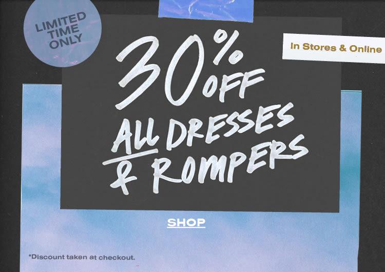 206ad8ca2af7 30% Off Dresses + Rompers