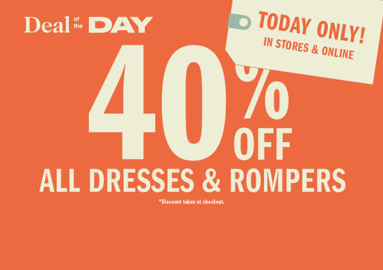 bcd05f9606b Deal of the Day  40% Off Dresses