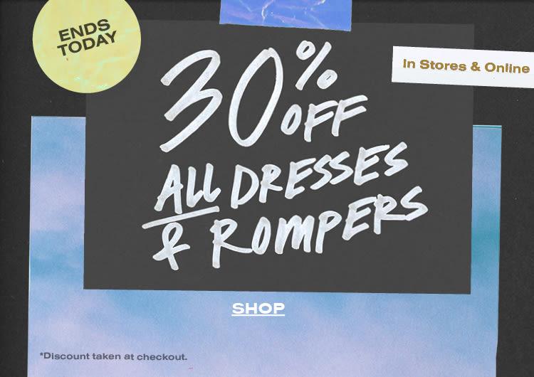fbc11a558e8b 30% Off Dresses + Rompers