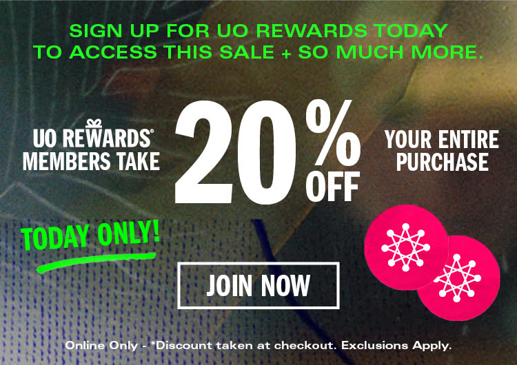 UO Rewards 20% Off Entire Purchase