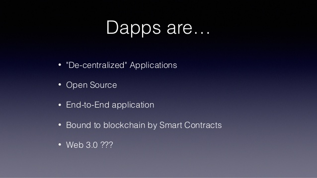 what are dapps slide